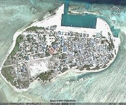 Bird's-eye view of Thimarafushi