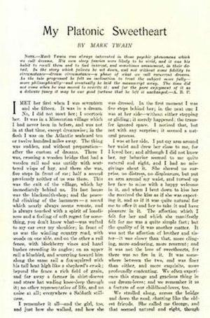 My Platonic Sweetheart - First page