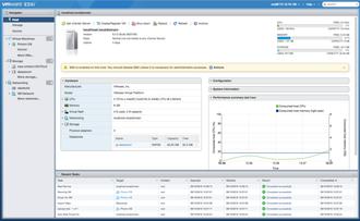 VMware ESXi - Image: V Mware ES Xi Host Client Summary
