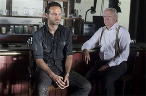Nebraska (The Walking Dead) - Rick talks with Hershel at a bar.