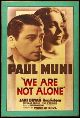 We Are Not Alone (1939 film) - Image: We Are Not Alone Film Poster