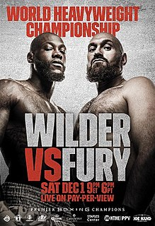 Deontay Wilder vs. Tyson Fury Boxing competition