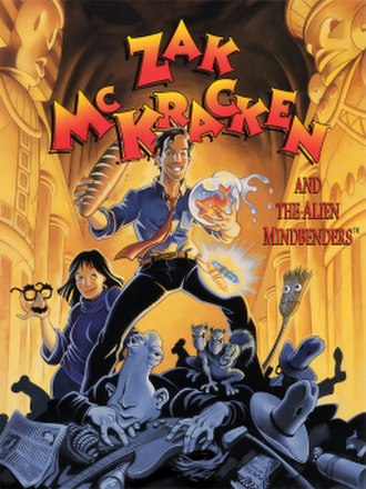 Zak McKracken and the Alien Mindbenders - Cover art by Steve Purcell