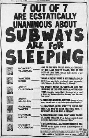 Subways Are for Sleeping - The advertisement