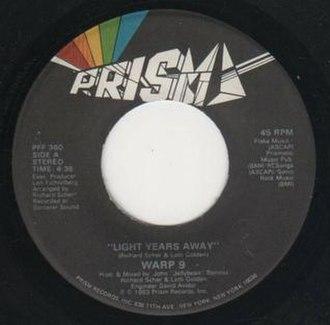 "Light Years Away (Warp 9 song) - Image: 12"" Single ""Light Years Away"" Warp 9"