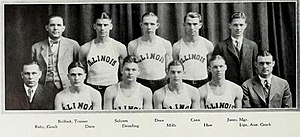 1927–28 Illinois Fighting Illini men's basketball team - Image: 1927–28 Illinois Fighting Illini men's basketball team