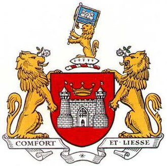 Doncaster Rovers F.C. - The coat of arms of the town of Doncaster that was used by Doncaster Rovers prior to 1972.