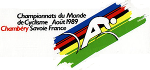 1989 UCI Road World Championships - Image: 1989 UCI Road World Championships logo