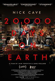 <i>20,000 Days on Earth</i> 2014 British documentary film