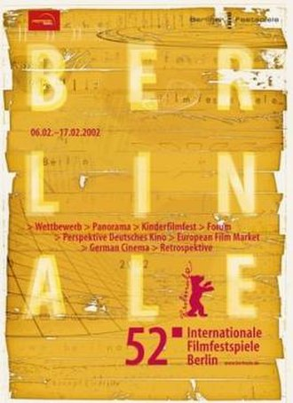 52nd Berlin International Film Festival - Festival poster