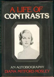 <i>A Life of Contrasts</i> book by Diana Mitford