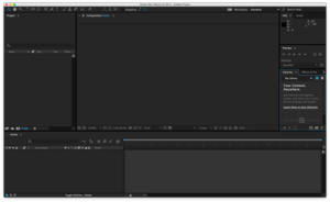 Adobe After Effects CC running on OS X El Capitan