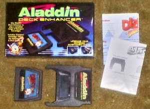 Aladdin Deck Enhancer, with Dizzy the Adventurer, cartridge for the NES by Camerica.JPG