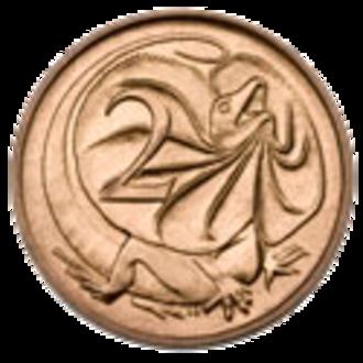 Coins of the Australian dollar - Image: Australian 2c Coin