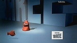 "BBC Three - One of the former BBC Three ""Blobs"""