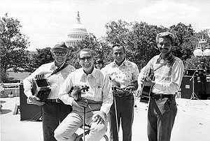 The Balfa Brothers - Allie Young, Dewey Balfa, Dick Richard and Rodney Balfa at the Library of Congress, 197.