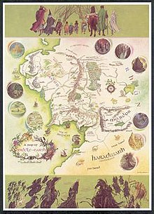 a map of middle earth by pauline baynes