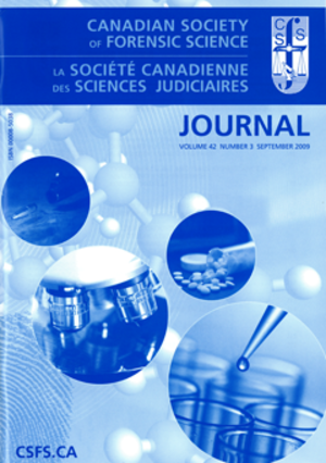 Journal of the Canadian Society of Forensic Science - Image: CSFS Journal logo