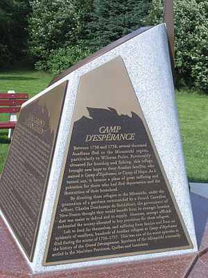 Miramichi, New Brunswick - Camp d'Espérance Memorial at Wilson's Point (IR Walker 2007)
