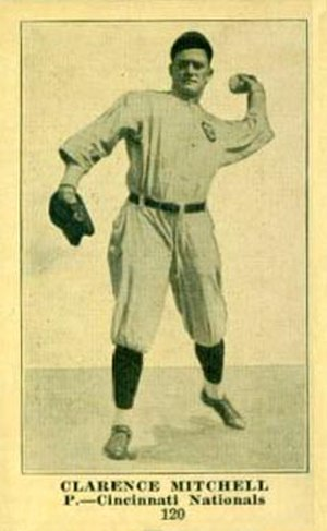 Clarence Mitchell (baseball) - Image: Clarence Mitchell baseball card