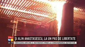 Colectiv nightclub fire - Romanian television stillframe showing the fire