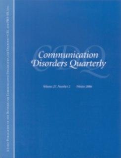 <i>Communication Disorders Quarterly</i> Academic journal