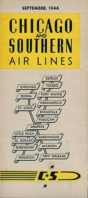 Chicago and Southern Air Lines - Image: Cs 460901