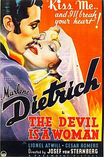 <i>The Devil Is a Woman</i> (1935 film) 1935 American film directed by Josef von Sternberg