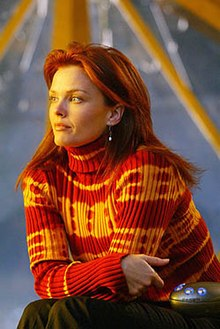 Dina Meyer as Barbara Gordon from the television series Birds of Prey.