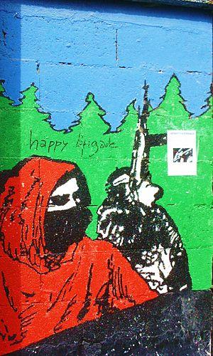 ETA (separatist group) - A pro-ETA mural in Durango, Biscay