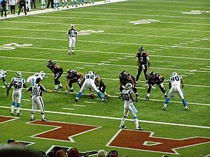2008 Atlanta Falcons season - Falcons offense against the Panthers in Georgia Dome