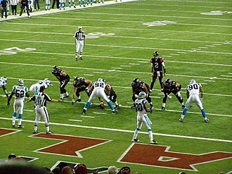 2008 Atlanta Falcons season - Falcons offense against the Panthers in Georgia Dome
