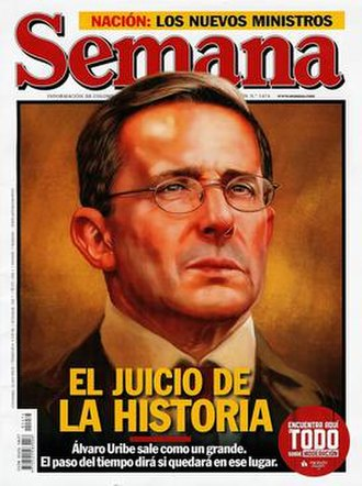 Semana - 31 July 2010 front cover of issue 1474 of Semana featuring President Álvaro Uribe.