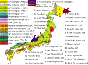 Geology of Japan - The geological features and bedrock composition of Japanese Islands