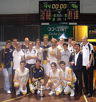 Goldfields Giants - The Giants celebrate their 2007 SBL championship win