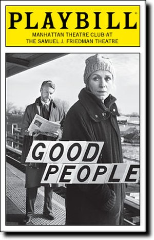 Good People (play) - Opening Night Playbill