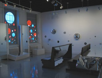 Gwendolyn Holbrow - A view of Reflection, installation at the Danforth Museum in Framingham, MA in 2007.
