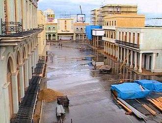 Havana (film) - The film's Havana street under construction prior to production