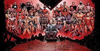 Olivier Coipel - Image: House Of M1Gatefold