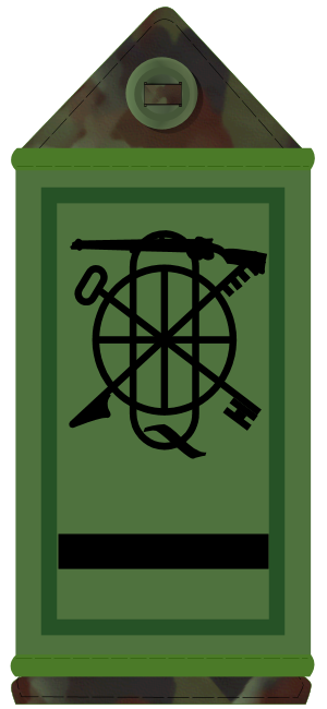 Regimental quartermaster sergeant - BQMS insignia (Irish Army)