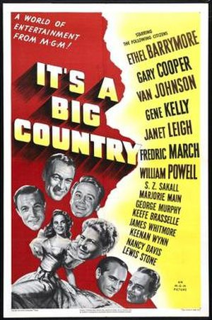 It's a Big Country - Theatrical release poster
