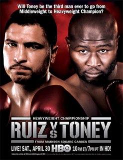 John Ruiz vs. James Toney Boxing competition