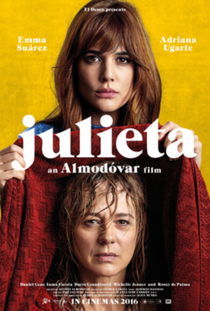 Julieta (film) - British theatrical release poster