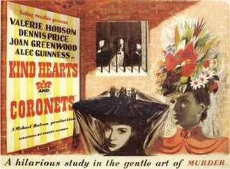 Kind Hearts and Coronets - Original British film poster by James Fitton
