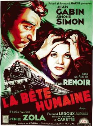 La Bête Humaine (film) - Theatrical release poster