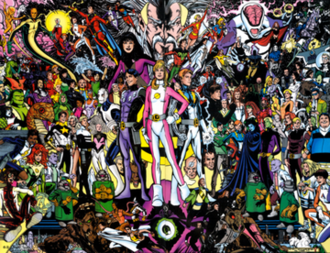 Legion of Super-Heroes (1994 team) - The Legion of Super-Heroes, with their allies and enemies Art by Phil Jimenez