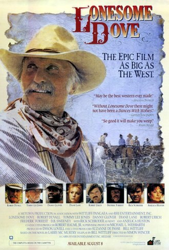 Lonesome Dove (miniseries) - VHS poster