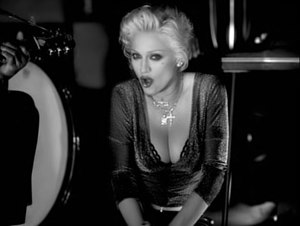 Secret (Madonna song) - Madonna as the nightclub singer in the video, showing the edgy and glamorous look as envisioned by McDaniel