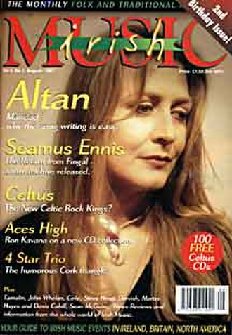 Irish Music (magazine) - Mairéad Ní Mhaonaigh on the cover   August 1997