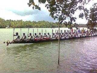 Munroe Island Village in Kollam District, Kerala, India